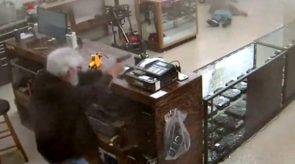 VIDEO: Armed Gun Store Owner Blows Away Wannabe Robber